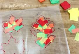 autumn leaf stained glass craft project