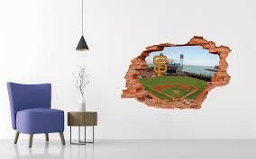 San Francisco Giants Stadium Wall Decal Egraphicstore