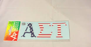 Alpha Sigma Tau Sorority Usa Car Letters American Flag Pattern Brothers And Sisters Greek Store