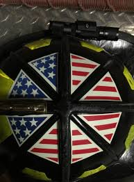 Identifire American Flag Crown Of Helmet Decals Silver Onesource Fire Rescue Equipment