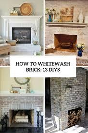 how to whitewash brick 13 cool
