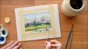 watercolor masking techniques fluid