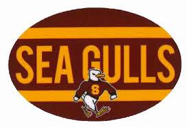 Salisbury University Bookstore Maroon Euro Sammy Sea Gulls Vinyl Decal
