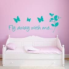 Butterfly Sayings Wall Decal Fly Away With Me Wall Decal Butterfly Wall Decals Boys Wall Stickers Wall Decals