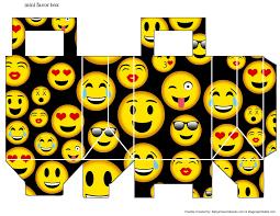 Cajita Bolsa Emoticonos Festa De Aniversario Emoji Modelos De