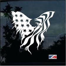Eagle Window Decals Flag Decal Sticker Car American Sutanrajaamurang