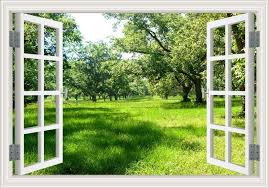 Amazing Forest Tree Landscape 3d Wall Sticker Removable Window View Wallpaper Home Decor Window View Garden Landscape Wallpaper Landscape Walls