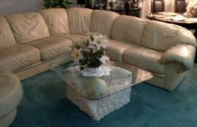 beige leather sectional sofa albany