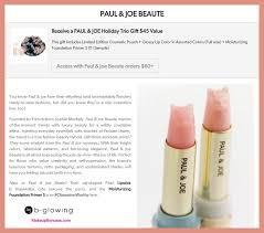 paul joe beaute makeup bonuses