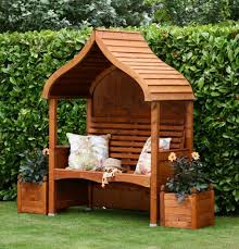 afk orchard arbour wooden garden seat