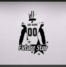 Wall Art Football Wall Decal Decor Custom Jersey Name And Number Vinyl Sticker American Football Player Personalized Decal Football Wall Decal Name Wall Decalswall Decals Aliexpress