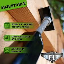 True Latch 6 Telescopic Fully Adjustable Gate Brace Wood Privacy Fence Anti Sag Gate Kit Extends From 40 To 74 Gate Har