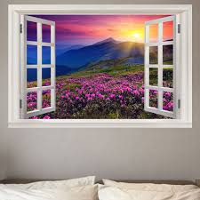 41 Off 2020 Window Sunshine Lavender Print Environmental Removable Wall Decal In Purple Dresslily
