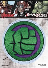 Marvel Avengers The Hulk Logo Vinyl Decal C 1 1 1 Discount Comic Book Service