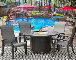 fire table barbados sling patio dining