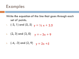 linear equations given two points