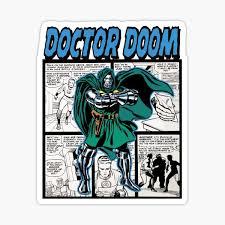 Doctor Doom Stickers Redbubble