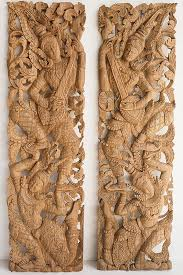 wooden wall art panel from thailand