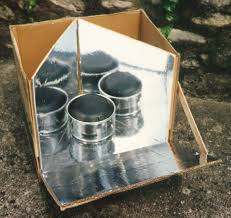 the reflective open box solar cooker