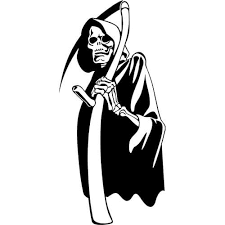 Grim Reaper Decal Sticker Grim Reaper Decal Thriftysigns