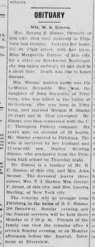 Ida Reynolds Layton Simms death article - Newspapers.com