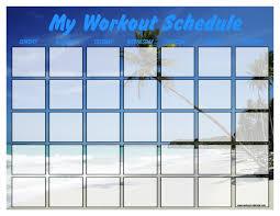 workout calendar templates free