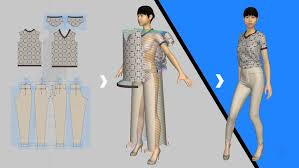 fashion design sketch in 3d using