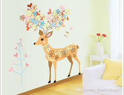 Diy Girl And Boy Living Room Pvc Waterproof Wall Sticker Flower Girl And Deer Home Kindergarten Hospital Kid Center Decoration Deco Wall Stickers Decor Decals From Bonniezhang01 7 24 Dhgate Com