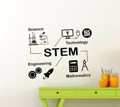 Stem Wall Decal Math Poster Sign Science Vinyl Sticker Classroom Wall Art 177ct For Sale Online