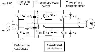 Image result for single phase to three phase converter diagram""