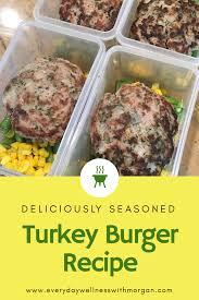 seasoned turkey burger recipe