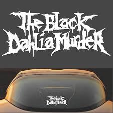 The Black Dahlia Murder Death Metal Band Logo Vinyl Decal Sticker