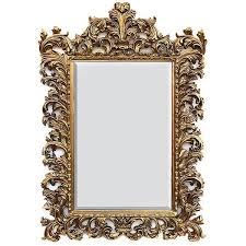 baroque gold gilt mirror