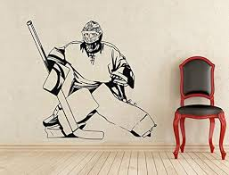 Amazon Com Andre Shop Hockey Goalie Wall Decal Sport Vinyl Sticker Wall Decor Removable Waterproof Decal 1sx69n Home Kitchen