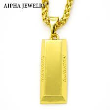 gold bar pendant necklace supreme