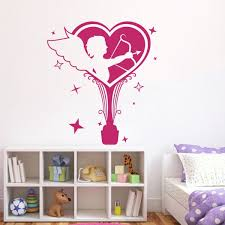 Shop Romance Cupid Angels Love Wall Art Sticker Decal Pink Free Shipping On Orders Over 45 Overstock 11179716