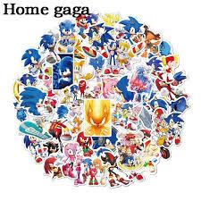 Homegaga 50pcs Hedgehog Cartoon 90s Home Decor Wall Notebook Luggage Bicycle Scrapbooking Album Sticker Decal D3042 Stickers Aliexpress