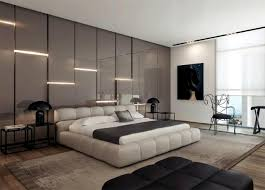 attractive wall design behind the bed