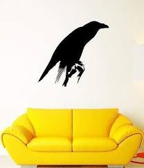 Amazon Com V Studios Wall Decal Black Crow Bird Feathers Beak Wings Rook Vinyl Stickers Vs270 Home Kitchen