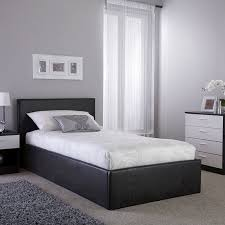 ottoman bed brown faux leather