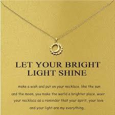 tiny chain sun moon necklace