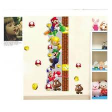 Shop Super Mario Height Measurement 3d Wall Sticker Art Vinyl Mural Decor Decal Kids Online From Best Wall Stickers Murals On Jd Com Global Site Joybuy Com
