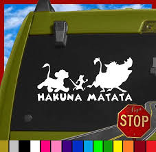 Lion King Inspired Hakuna Matata Sticker Decal Any By Signstop 2 99 Disney Car Stickers Disney Decals Disney Cars