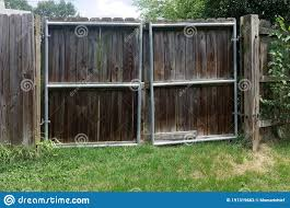 Fence Gate Reinforced With Iron Frame Stock Image Image Of Gate Strength 191319663