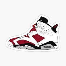 Air Jordan 6 Stickers Redbubble