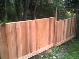 How To Build A Stepped Wood Fence On A Slope Easy Cheap Building A Fence Wood Fence Building A Deck