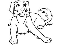 Tranh cho bé tô màu con chó
