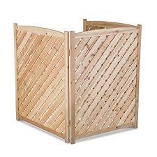 Wood Lattice Air Conditioner Screen Natural Amazon In Home Improvement