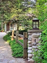 Lake Michigan Cabin Makeover Driveway Entrance Driveway Landscaping Backyard Fences