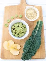 homemade baby puffs kale apple